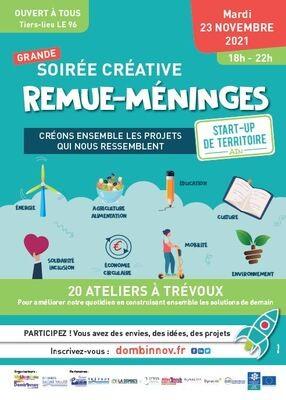 Soirée créative REMUE-MENINGES - START-UP DE TERRITOIRE