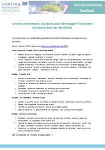 Leviers et exemples d'actions pour développer l'économie circulaire dans les territoires