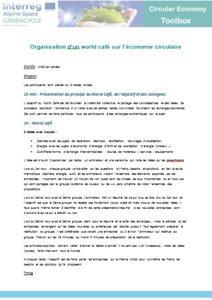 Organisation d'un world café sur l'économie circulaire