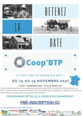 COOP'BTP - Pré-inscription ouverte - Save the date
