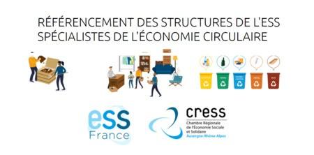 Référencement des structures de l'ESS spécialistes de l'économie circulaire en AURA et en France