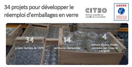 34 projets pour développer le réemploi d'emballages en verre dont 7 en AURA