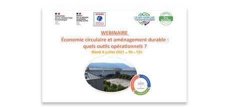 Webinaire : Économie circulaire et aménagement durable : quels outils opérationnels ?