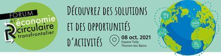 Premier forum de l'économie circulaire transfrontalier le 8 octobre à Thonon-les-Bains