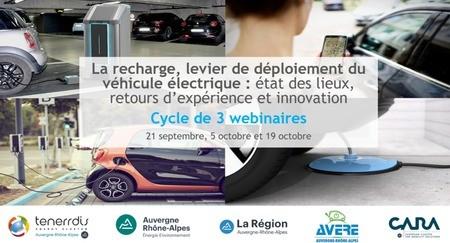 [Cycle de webinaires] La recharge, levier de développement du véhicule électrique : état des lieux, REX et innovation