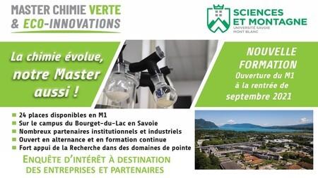 [ENQUÊTE D'INTERÊT VERS LES ENTREPRISES] Nouveau Master Chimie Verte et Eco-Innovations