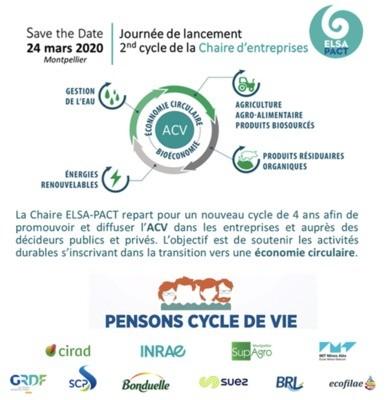 [Vu ailleurs] Journée de lancement de la Chaire ELSA-PACT - 24 mars 2020 Montpellier