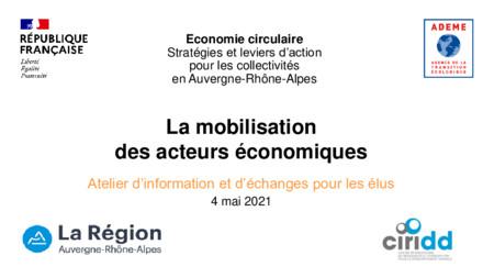 CR de l'atelier d'information et d'échanges pour les élus sur la mobilisation des acteurs économiques