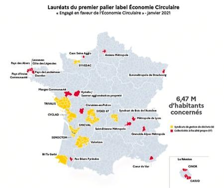 Découvrez les territoires lauréats 2021 du label économie circulaire en Auvergne-Rhône-Alpes