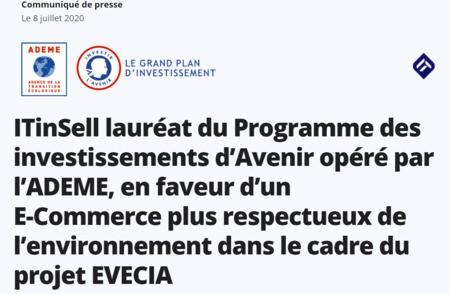 ITinSell en faveur d'un E-Commerce plus respectueux de l'environnement dans le cadre du projet EVECIA