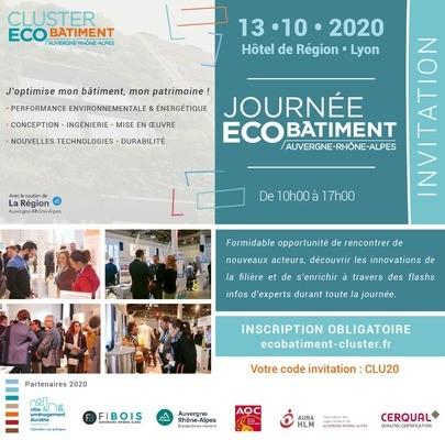 [EVENEMENT] 4ème Journée de l'Eco-Bâtiment : « J'optimise mon bâtiment, mon patrimoine ! » - 13 octobre 2020 - Hôtel de Région - 10h/17h