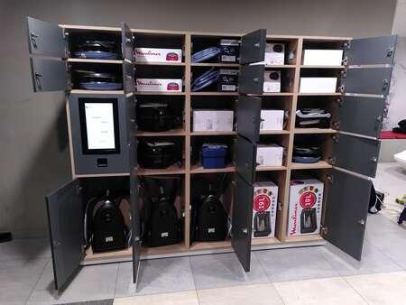 Les biens en communs, casiers connectés pour appareil partagés